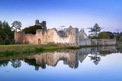 Ruins of the castle in Adare. At dusk, Ireland Royalty Free Stock Images