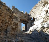 Ruins of the castle Bechin Milas Turkey. Ancient ruins in Bechin city Milas Turkey Stock Photos