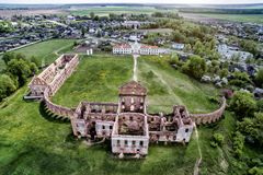 Ruins of the castle in Belarus republic. Ruzhany Palace. Travel destination. Stock Image