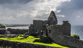 RUINS OF THE CASTLE royalty free stock photo