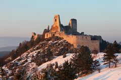 The ruins of castle Cachtice Royalty Free Stock Photo