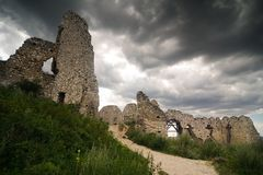 The ruins of castle Cachtice Royalty Free Stock Photography