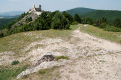 The ruins of castle Cachtice Stock Photos