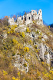 Ruins of castle called Stary hrad near Strecno Royalty Free Stock Image