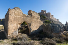 Ruins and castle of Chinchilla Stock Photography