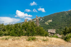 Ruins of a castle in Corsica  along the GR20 route - 3 Stock Photo
