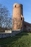 The ruins of the castle in Czersk, Poland. The ruins of the castle of dukes of Mazovia in Czersk, Poland Royalty Free Stock Photos
