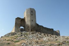 Ruins of the castle Enisala. Antiques. Has existed for more than 700 years Stock Image
