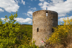 Ruins of the castle in Esch-sur-Sure village. Luxembourg Royalty Free Stock Photography