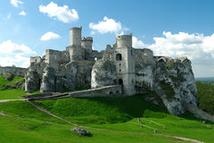 Ruins of a castle in Europe Royalty Free Stock Photography