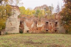 The ruins of the castle Gerdauen in the village Zheleznodorozhny Royalty Free Stock Photo