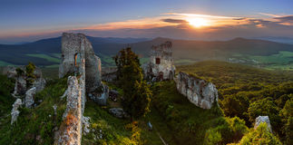 Ruins of castle Gymes Royalty Free Stock Images