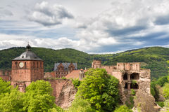 Ruins of Castle Heidelberg Royalty Free Stock Photos