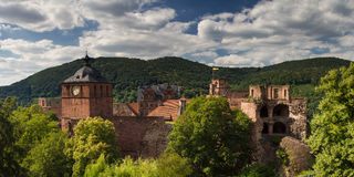 Ruins of Castle Heidelberg Stock Images