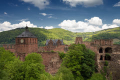 Ruins of Castle Heidelberg in spring Royalty Free Stock Images