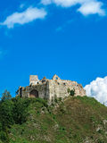 The ruins of the castle on the hill Royalty Free Stock Photo