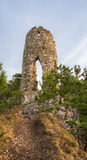 Ruins of a Castle on the Hill Stock Photo