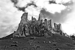 Ruins of castle Hrušov. Slovakia Stock Photo