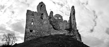 Ruins of castle Hrušov Stock Photos