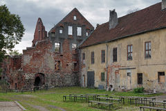 Ruins of the Castle Insterburg in Chernyakhovsk, Russia Royalty Free Stock Photos