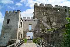 Ruins of castle Kirchschlag. In Lower Austria Stock Photos