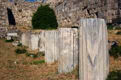 Ruins at the Castle in Kos Town. On the Greek Island of Kos stock photography