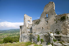 Ruins of the castle of Lacoste Stock Photography