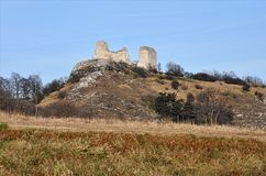 Ruins of the castle, landscape Palava, Czech Republic, Europe Royalty Free Stock Images
