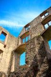 The ruins of the castle Landskrone in Oppenheim in Rheinhessen.  stock photo