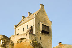 Ruins of the castle of Larochette Stock Photography