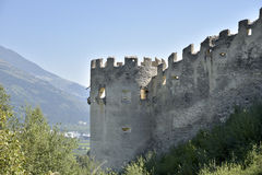 Ruins of Castle Lichtenberg, South Tirol, Italy Stock Photography