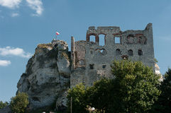 The ruins of the castle. Stock Images