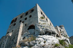 The ruins of the castle. Stock Image