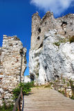 Ruins of the castle in Mirow. (Eagles' Nests Trail , Poland Stock Image