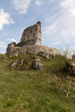 Ruins of a castle in Mirow .Poland Royalty Free Stock Image