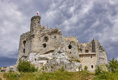 Ruins of the castle in Mirow & x28;Poland& x29; Stock Photo