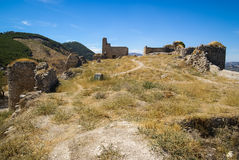 Ruins of a castle at  Moclin, Granada, Andalusia, Spain Royalty Free Stock Image