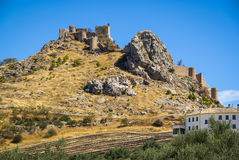 Ruins of a castle at  Moclin, Granada, Andalusia, Spain Royalty Free Stock Photos