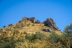 Ruins of a castle at  Moclin, Granada, Andalusia, Spain Stock Photo