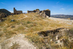 Ruins of a castle at  Moclin, Granada, Andalusia, Spain Stock Photography