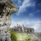 Ruins of a castle, Ogrodzieniec, Poland. Royalty Free Stock Photo