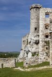 Ruins of the castle Ogrodzieniec - Poland royalty free stock image
