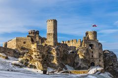 Ruins of the castle Ogrodzieniec royalty free stock photography