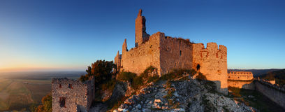 Ruins of castle - Panoramic view Stock Images