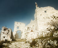 Ruins of castle plavecky hrad Royalty Free Stock Image