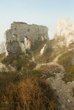 Ruins of castle plavecky hrad Royalty Free Stock Photo