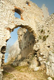Ruins of castle plavecky hrad Royalty Free Stock Photography