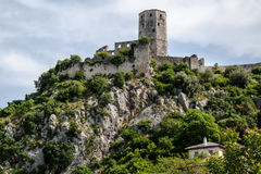 The ruins of the castle Pocitelj in Bosnia and Herzegovina Royalty Free Stock Photography