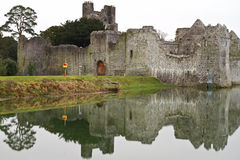 Ruins of castle with reflection Royalty Free Stock Photography