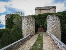 Ruins of a castle in Sesena, Castilla la Mancha, Spain Stock Images